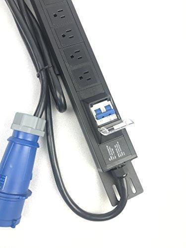 Rack Mount Power Distribution Unit 15 Outlets 32A 7500W PDU W//Switch