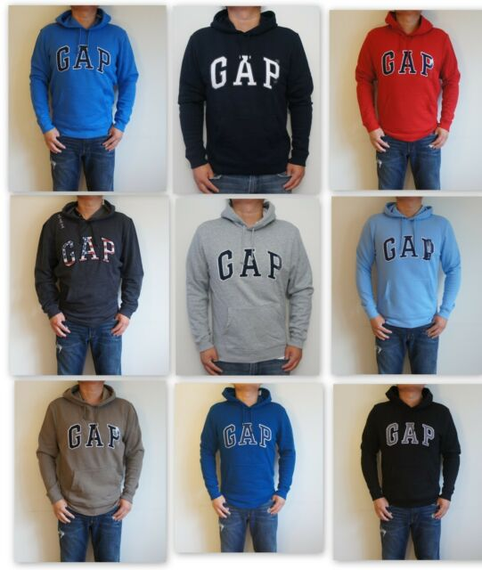 NWT Gap Logo Men Pullover Long Sleeve Hoodie Sweat shirt
