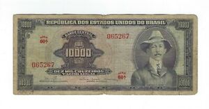 10000-Cruzeiros-Bresil-1966-c060-p-182aa-Brazil-billet-SCARCE