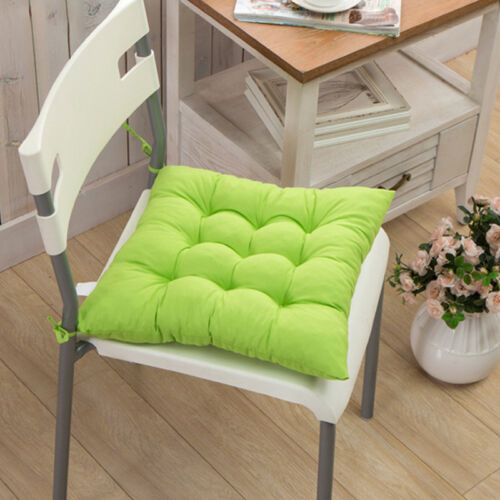 Plain Seat Pads Cushions Tie On Chair Dining Kitchen Home Sofa Garden 40*40CM