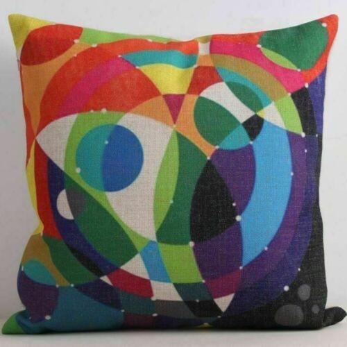 Linen Kissenbezug Geometrische Mehrfarbig Kissenhülle Kissen Muster Dekokissen
