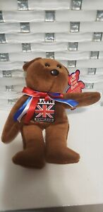 Gus from Bath England Teddybear Beanie Plush Toy Sampson Souvenirs bear UK Tag