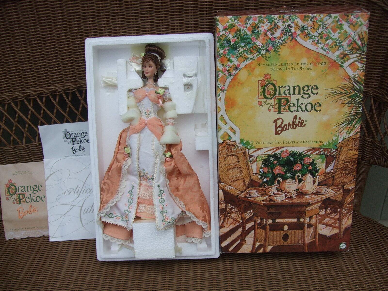 naranja Pekoe Barbie Victorian Tea Porcelana Colección Edición Limitada Mib