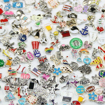 10/20/50/100pcs Random Floating Charm for Glass Living Memory Locket DIY