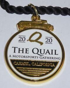 2020 Monterey Car Week The Quail Gathering souvenir collector bracelet / key fob