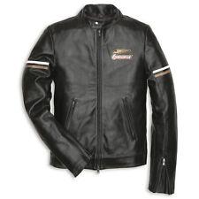 Ducati Retro Black Leather Motorcycle Jacket