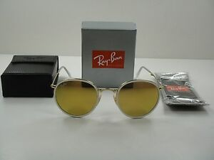 987a32d02c ... release date image is loading ray ban round folding sunglasses rb3517 001  93 41901 2ab4f