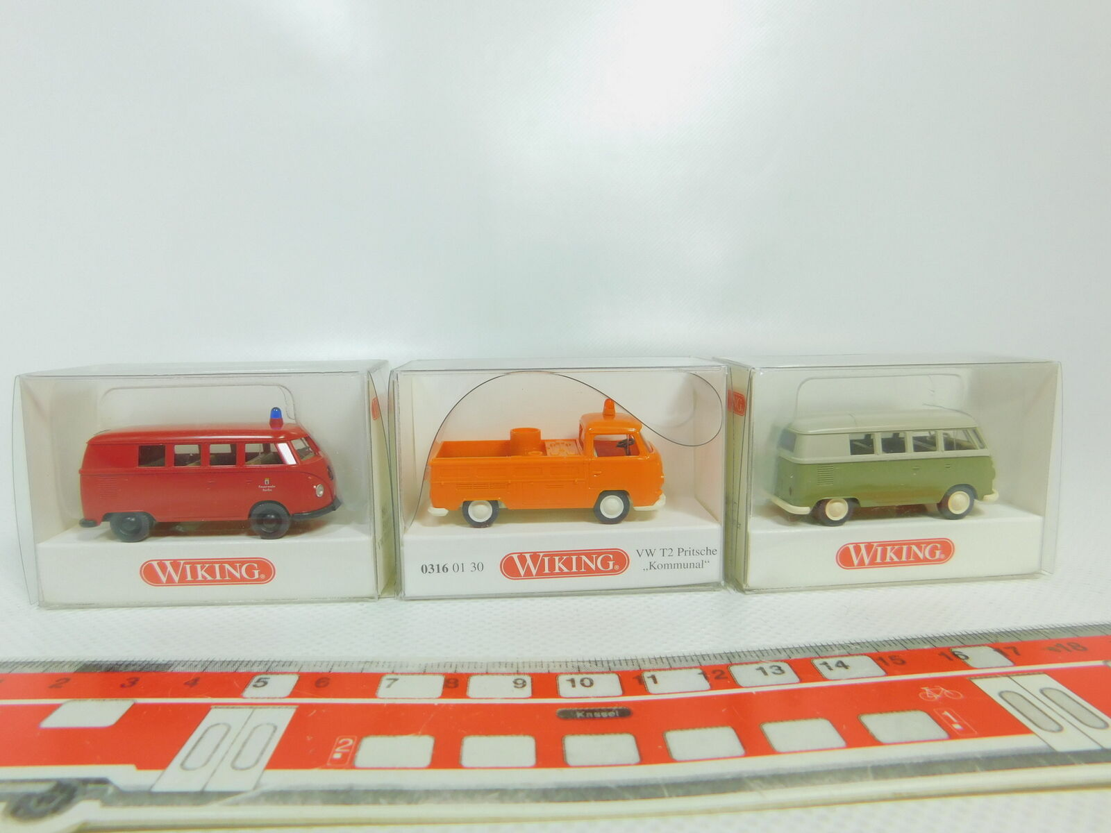 Bo521-0,5   3x wiking h0   87 vw  0316 t2 + 861 fw   pompier + 797 t1, neuf +
