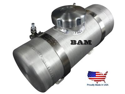 4x12 End Fill Spun Aluminum Gas Tank .58 Gallon 1//4 NPT OFFSET Outlet Bung