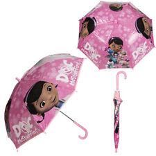 DOC MCSTUFFINS BUBBLE UMBRELLA CHILDRENS GIRLS BROLLY RAIN SCHOOL GIFT WIND NEW