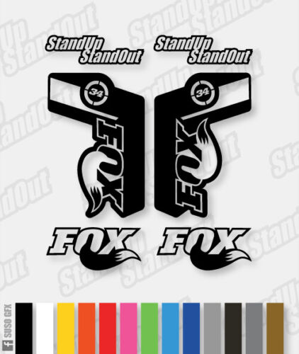 Fluorescent Colours Custom Fox 34 Style Replacement Decals Single Colour