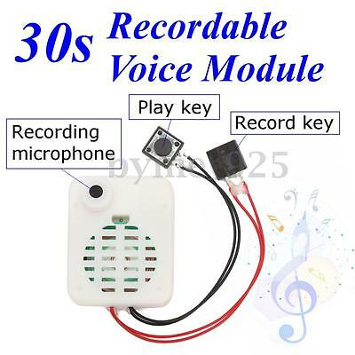 30s Button Recordable Voice Module Music Box Sound Record For Plush Doll Gift