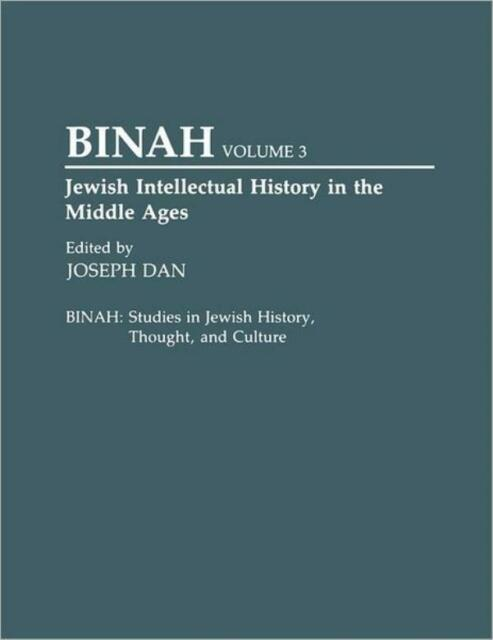Jewish Intellectual History In The Middle Ages