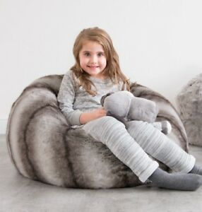 Image Is Loading Large Children 039 S Bean Bag Chair Kid