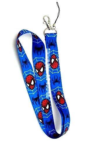 UK Seller Car Keyring ID Holder Phone **NEW** Spiderman Lanyard 3 Variations!