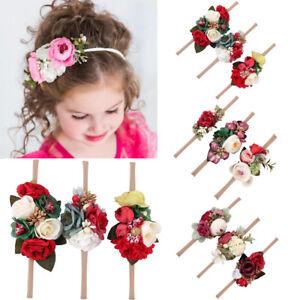 Baby Girl Flower Headband Garland Hair Band Elastic Party Headwear ... 3d586ddf34ab