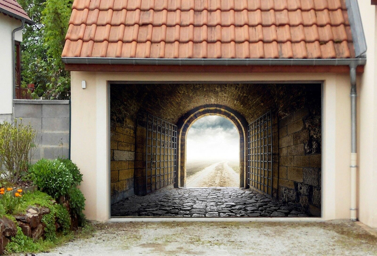 3D Path Sky 122 Garage Door Murals Wall Print Decal Wall Deco AJ WALLPAPER UK