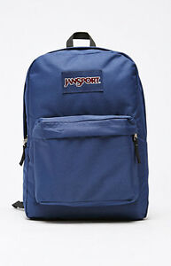 Image is loading WOMENS-GIRLS-JANSPORT-SUPERBREAK-NAVY-BLUE-BACKPACK-SCHOOL- 2918f964ff
