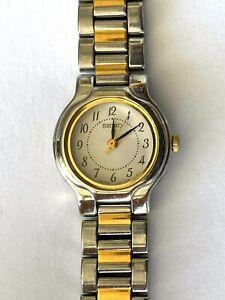 Details zu Vintage Seiko Quarz V401 1839 Damen Armbanduhr Japan Runs Neu Batterie Zwei Ton