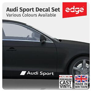 Audi Sport Premium Cast Vinyl Decals Side Skirt Stickers Graphics Set