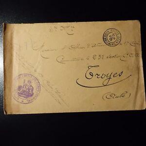 Lettre Cover Cachet Gare De Rassemblement Du Corps Colonial 1915 -> Troyes ProcéDéS De Teinture Minutieux