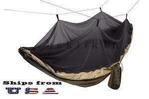 Double Outdoor Parachute Nylon Hamac Avec Moustiquaire-afficher Le Titre D'origine CaractéRistiques Exceptionnelles