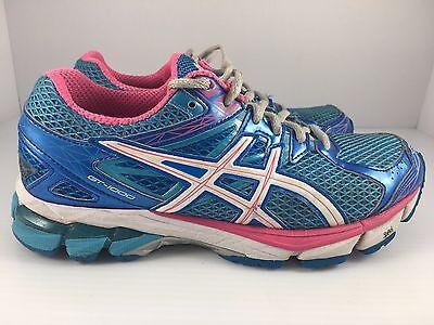VGC! ASICS GT 1000 4 Womens Size 6.5 Running Shoes PinkBlueSilver