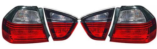 Rear Tail Lights set Smoke darkline blackline For BMW 3 Series E90 Saloon 05-08