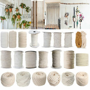 1-2-3-4-5-6-7mm-Natural-Cotton-Macrame-Rope-Beige-White-Twisted-Cord-Hand-Craft