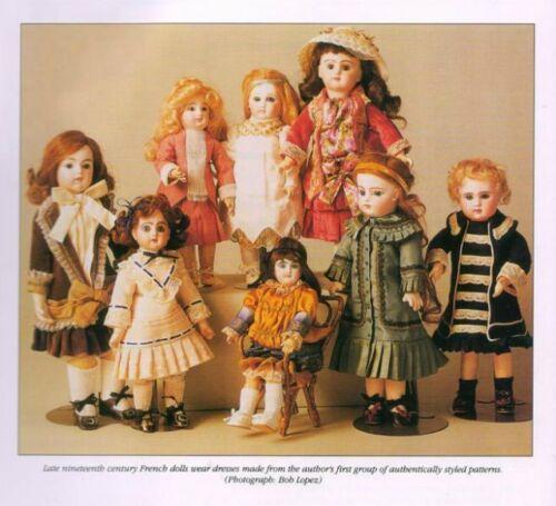 COLLECTION ANTIQUE FRENCH BRUJUMEAU DOLL DRESS PATTERN VARIATIONS ACKERMAN