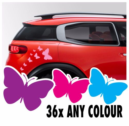 34 Butterfly Stickers Vinyl Decal Kit Car Ds3 Wall Saxo Mini VW Beetle Camper
