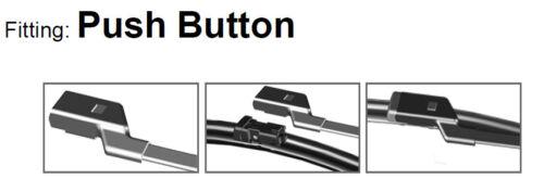 Dos bolsillos sin marco Wiper Blades HQ Aero dinámico ADB02-424 A296S VM363