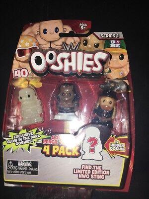 Ooshies 4 Pack WWE Wrestling Figure-BOOKER T BRAY WYATT /& MACHO MAN 76437