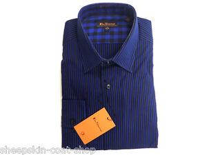 Camisa-de-Hombre-Ben-Sherman-Mod-Entallada-Azul-Algodon