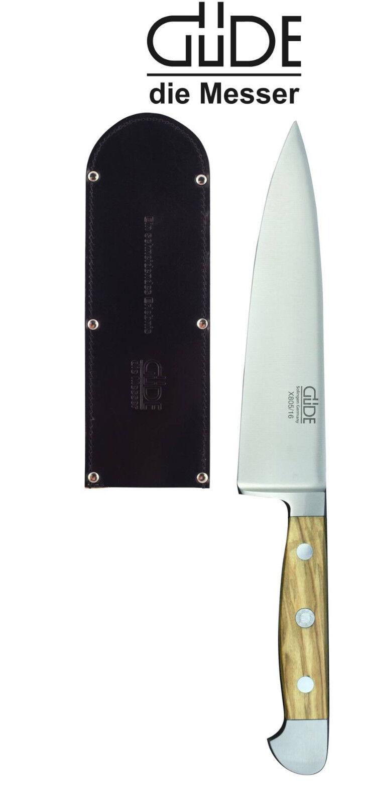 Güde couteau Solingen 16 cm, série ALPHA-Olive x805 16 avec couteau fourreau NEUF