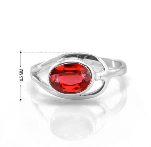 Natural garnet stone ring made to order in your size oval cut stone garnet ring 925 sterling silver