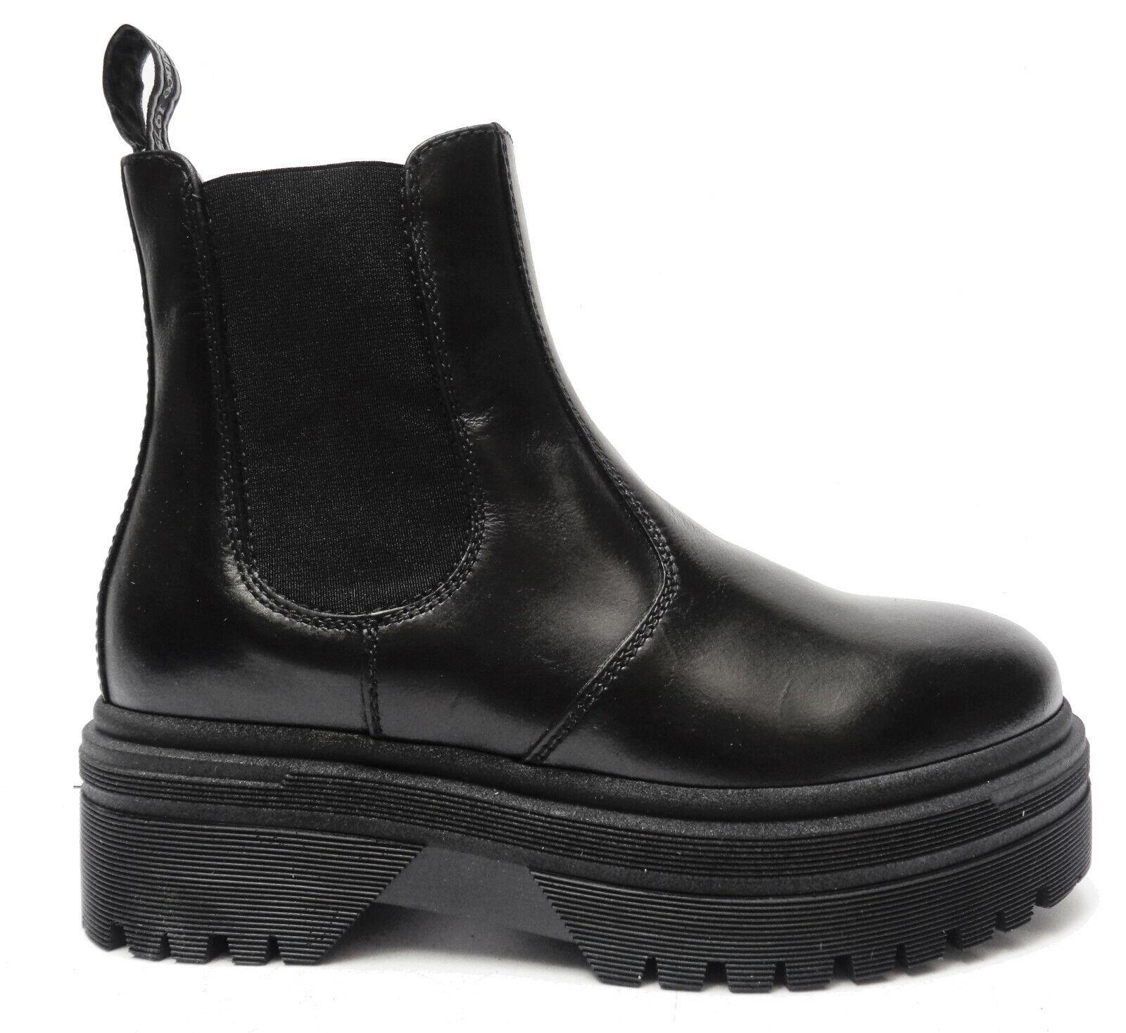 schwarz Giardini 9830 Militärschuhe Damen aus Leder Schwarz Elastisch Hintergrund