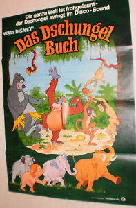 A1 Filmplakat ,DAS DSCHUNGEL BUCH, WALT DISNEY,ZEICHENTRICK-02