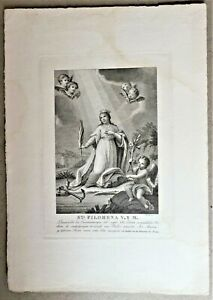 St-Saint-Philomena-Virgin-and-Martyr-Amillo-Lo-Recorded-Engraved-mid-of-the-C