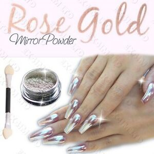 Sale mirror powder chrome effect pigment nails new rose gold image is loading sale mirror powder chrome effect pigment nails new prinsesfo Images