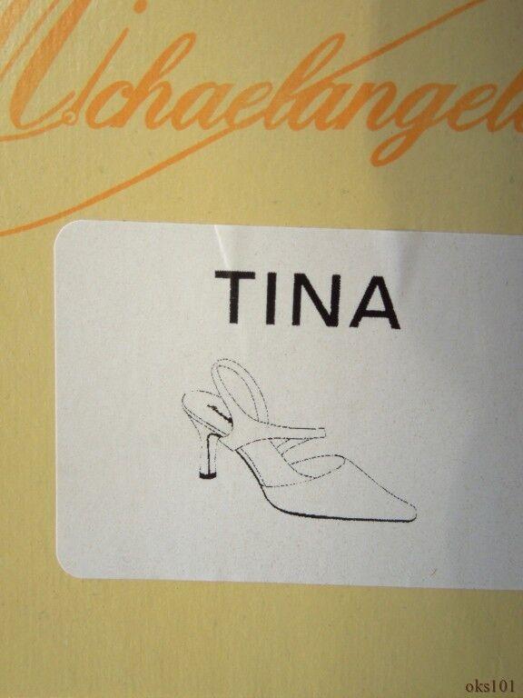 New Michaelangelo 'Tina' Weiß satin pointy toe slingbacks schuhe wedding wedding wedding bridal 319dbf
