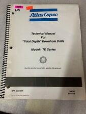 Atlas Copco Td Series Technical Manual Total Depth Downhole Drill 608