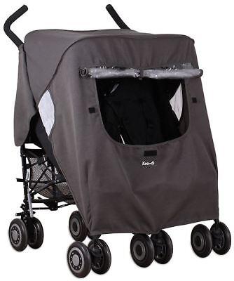 Ragionevole Koo-di Pack It Doppio Antipioggia Per Carrozzina/passeggino/passeggino Accessorio Viaggio Bn-/stroller Travel Accessory Bn It-it