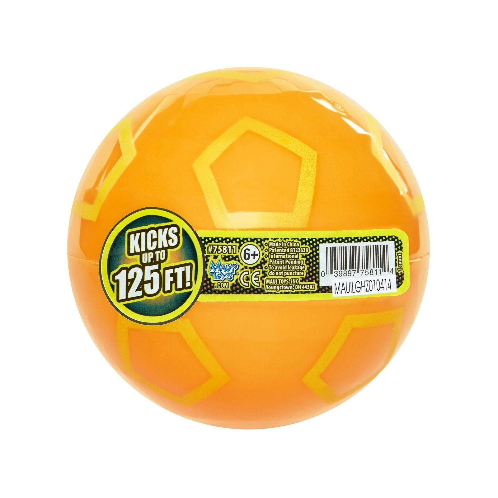 Maui Toys Jumbo Pop Soccer Sky Ball 120mm Assorted Colors