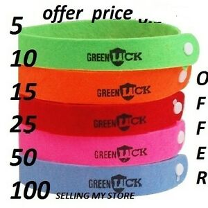10-xANTI-MOSQUITO-BUG-REPELLENT-WRIST-BAND-BRACELET-INSECT-BUG-LOCK-CAMPING-MOZZ