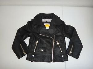 Straightforward C&c California Baby Kids Girl's Black Faux Leather Motorcycle Jacket Size 2t Girls' Clothing (newborn-5t) 3t Available In Various Designs And Specifications For Your Selection Clothing, Shoes & Accessories