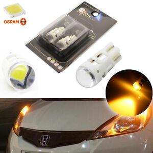 2pcs amber t10 w5w 2825 led bulbs for parking side lights. Black Bedroom Furniture Sets. Home Design Ideas