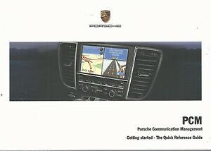 porsche communication management pcm quick reference owners manual rh ebay ie Porsche PCM Screen porsche 997 pcm owners manual