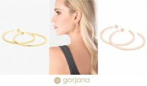 Gorjana-Arc-Hoop-Earrings-Rose-Gold-or-Gold-Plated-NWT-Sold-out-in-stores-60