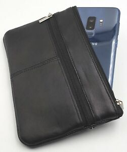 Women-Genuine-Leather-Coin-Purse-Phone-Pouch-Change-Wallet-Key-Ring